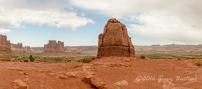 Panorama inside Arches NP