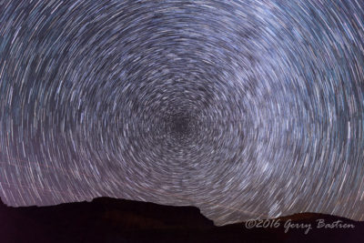 Star trails outside of Moab